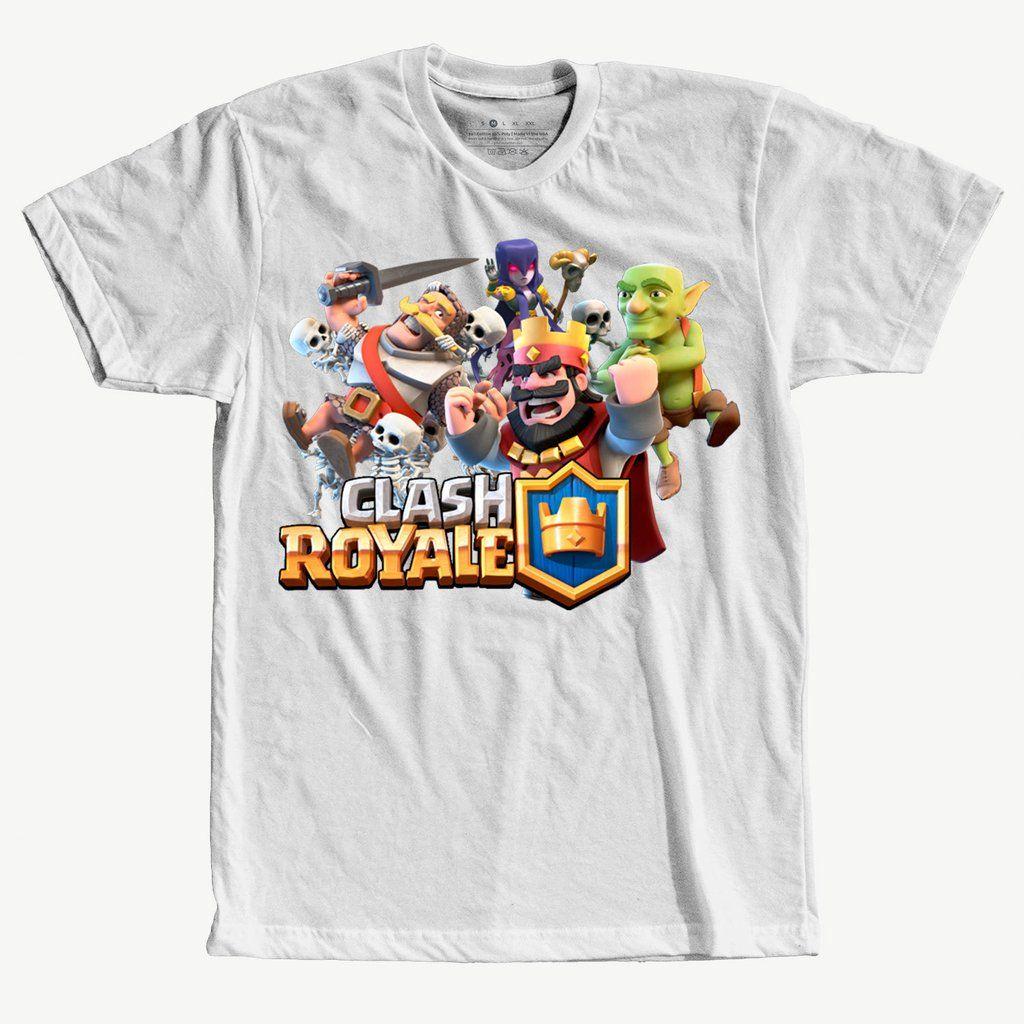 e60e2ae6e3 Camiseta Clash Royale Gamer Jogo Masculina Branca