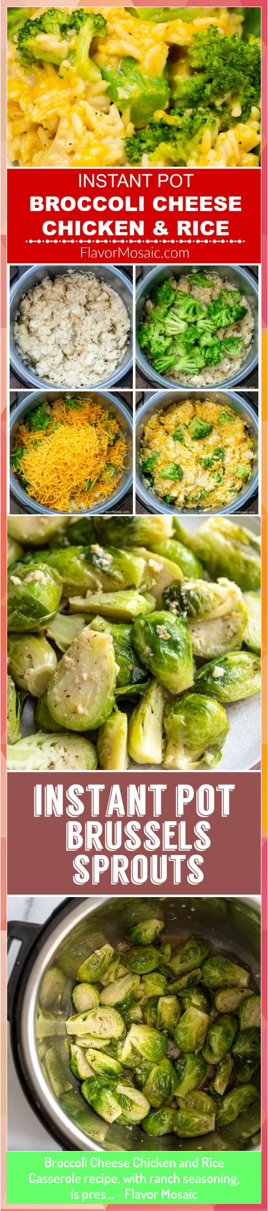 Broccoli Cheese Chicken and Rice Casserole recipe with ranch seasoning is pres  Flavor Mosaic