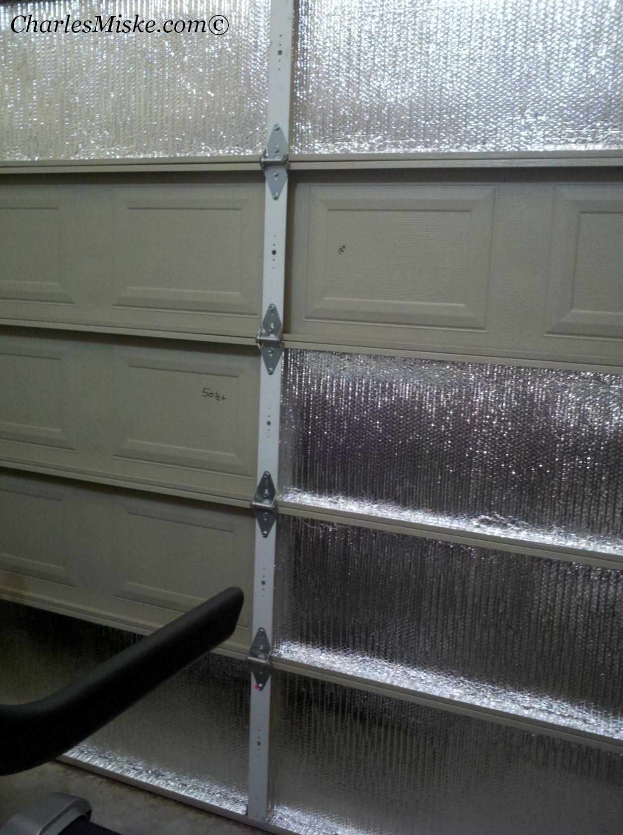 Starting To Insulate The Inside Garage Door Panels Home Garage Door Insulation Garage Doors Door Insulation