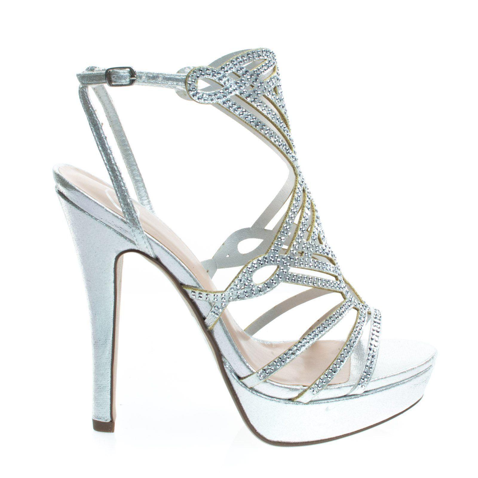 2f5f2248fa3c13 ... you in these shimmering high heel dress sandal featuring a thick  platform for comfort