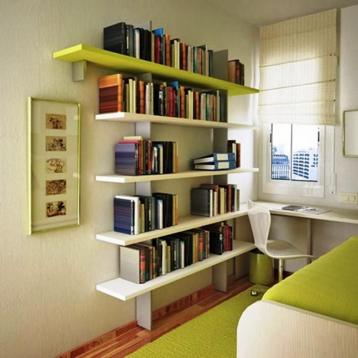 Marvelous 15 Marvelous Bedroom Designs With Accent Bookshelf
