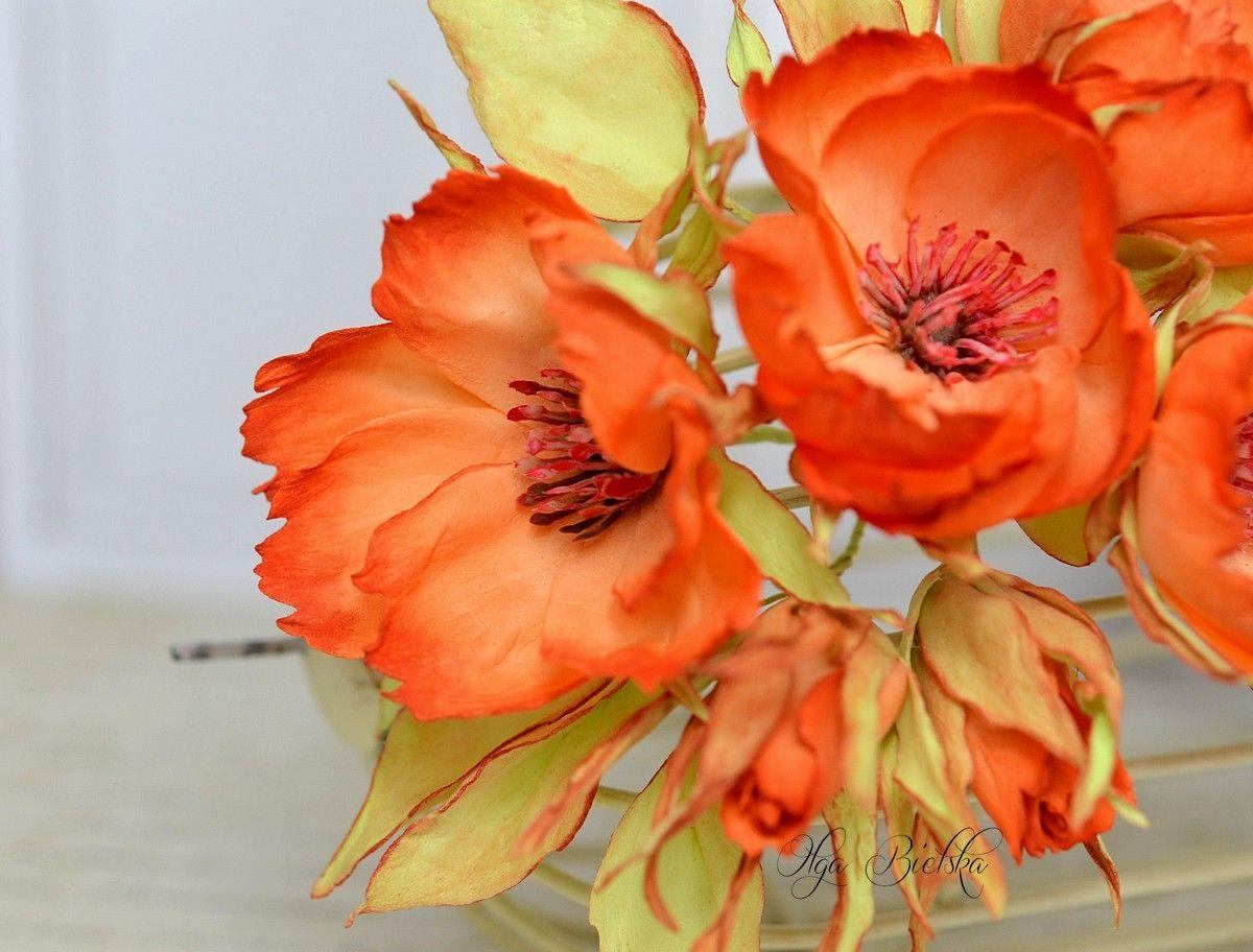 Kwiaty Z Foamiranu Jedwabnego Foam Flowers Flowers Fabric Flowers
