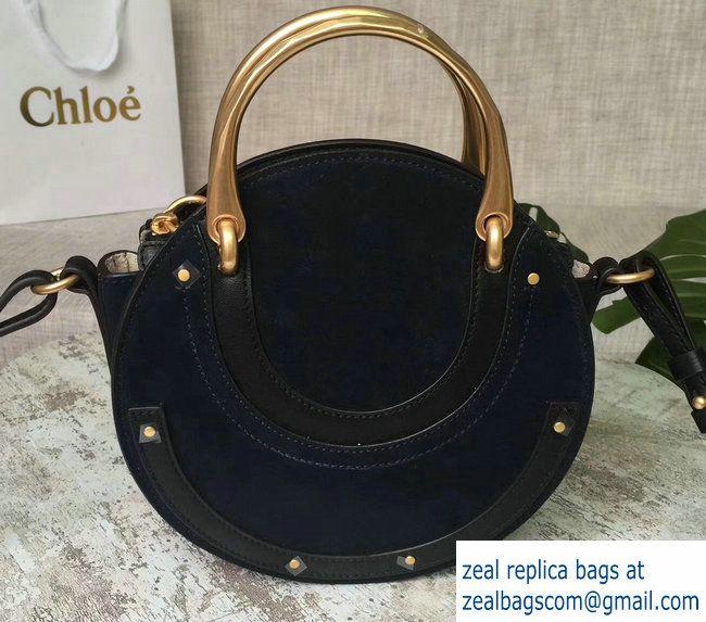 asa Calfskin oscuro Chloe Suede Small Negro Bolsa Smooth 3s1331 And Pixie de doble Azul 2017 wqzqO