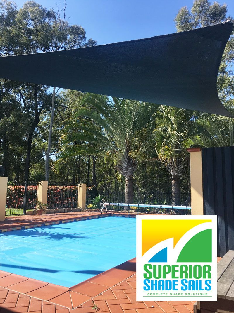 Pool Shade Sail installation by Superior Shade Sails in Albany Creek ...