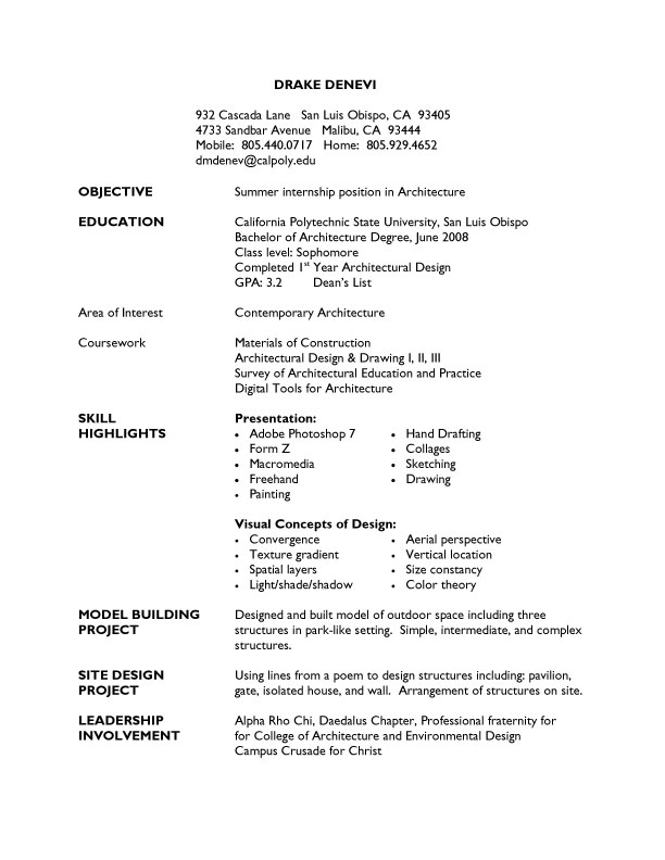 resume in college resume in college standard format sample resumes ...