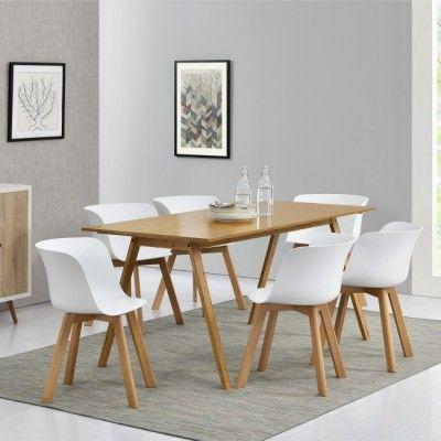 Mesa comedor + 6 sillas blanca | Mesas | Pinterest | Sillas blancas ...
