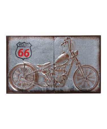Another great find on #zulily! Motorcycle Wall Décor #zulilyfinds