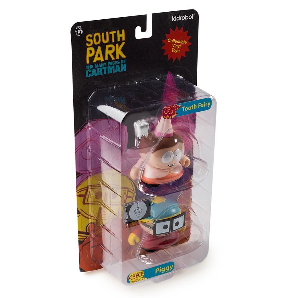 Kidrobot Tooth Fairy /& Piggy 2 Pack Many Faces of Cartman South Park Series 2