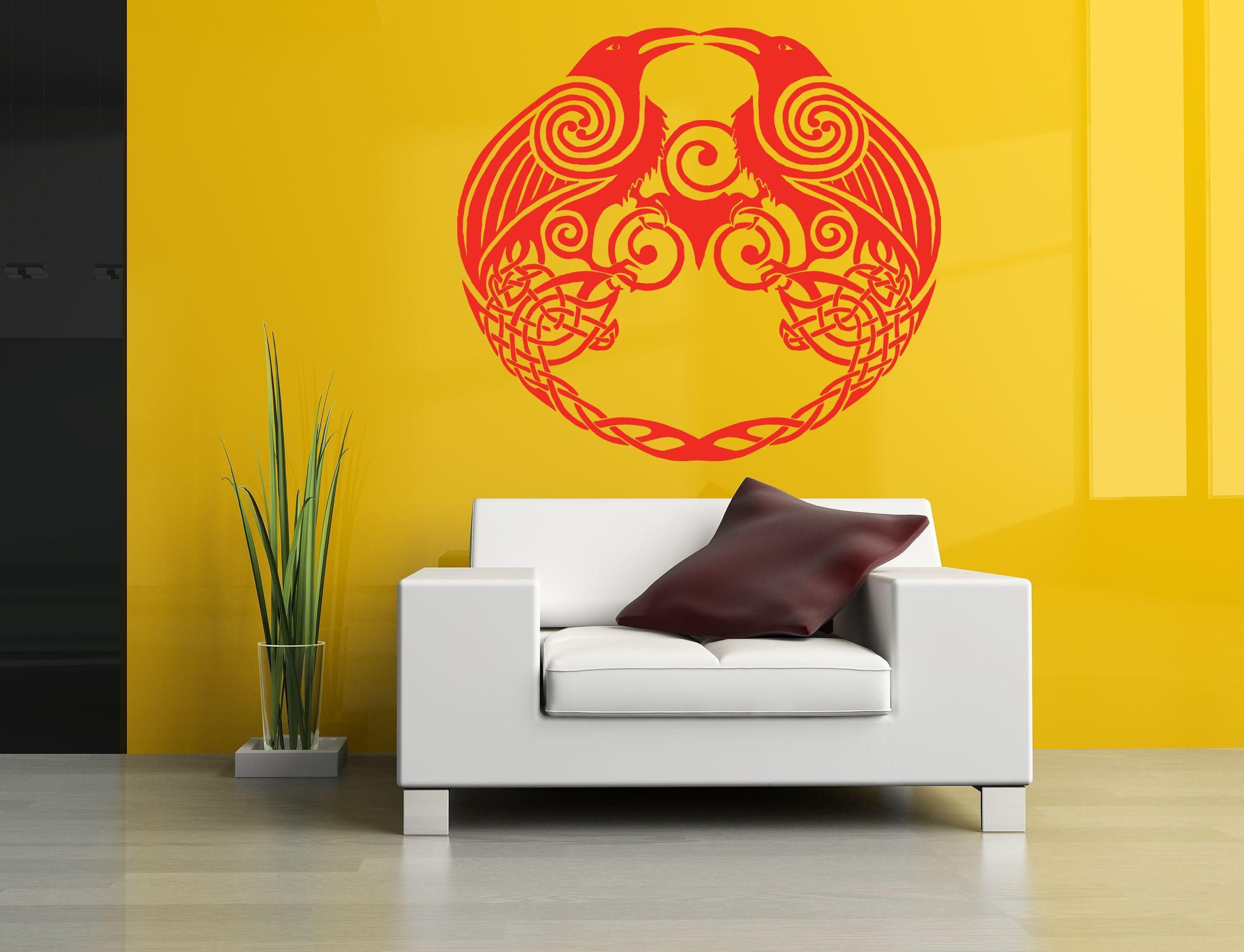 Wall Room Decor Art Vinyl Sticker Mural Decal Birds Crow Raven ...