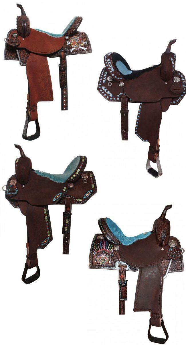 10 Turquoise Saddles by Double J | Horse Tack! | Horse saddles