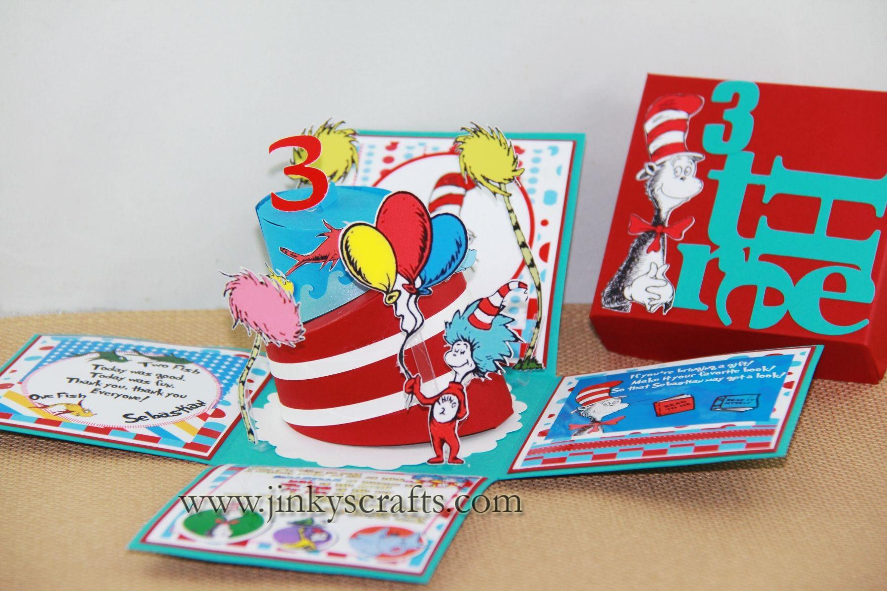 DR. SEUSS BIRTHDAY BOX INVITATIONS | Box invitations, Free printable ...