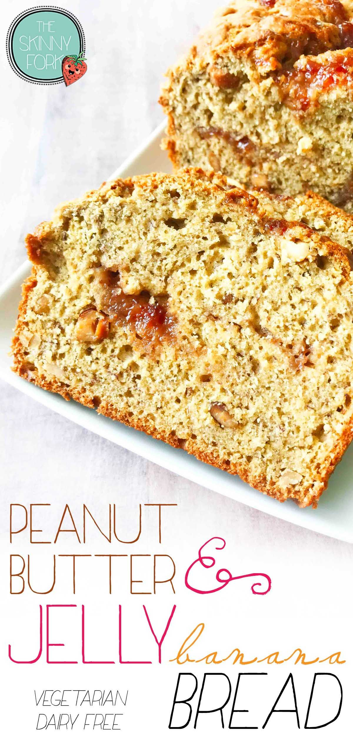 PBJ Banana Bread — The Skinny Fork | Recipe in 2020 ...