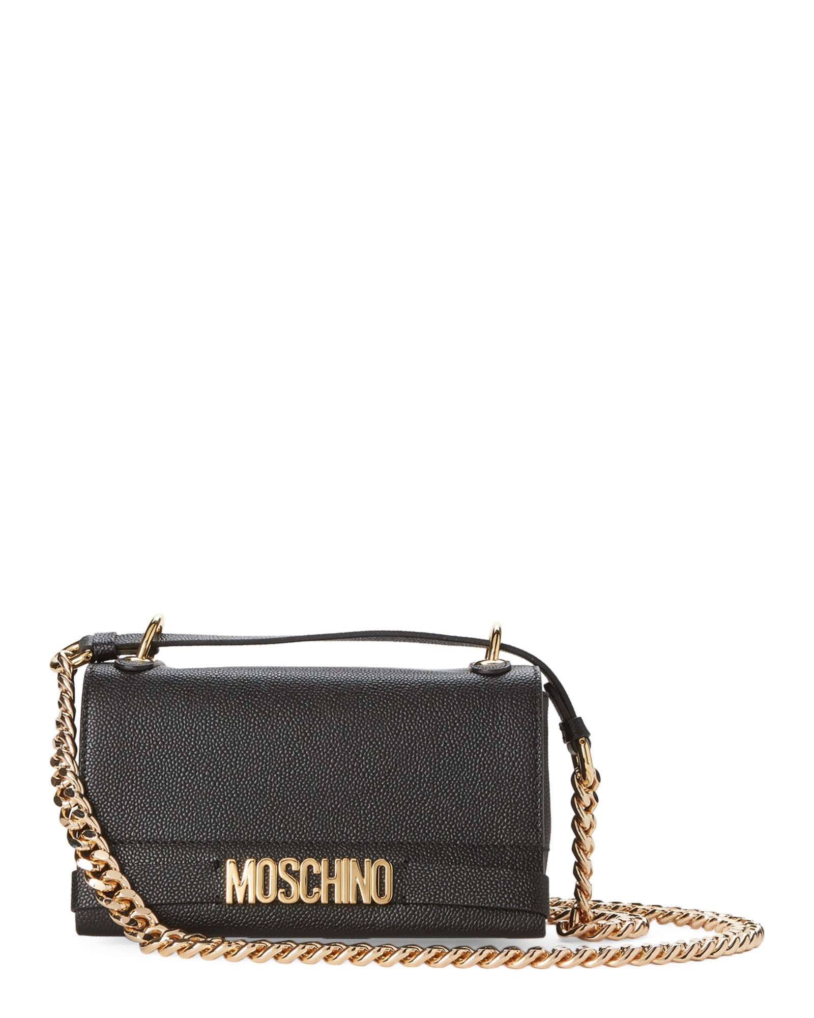 amazing price reasonable price new specials Moschino Black Logo Leather Shoulder Bag   Moschino bag