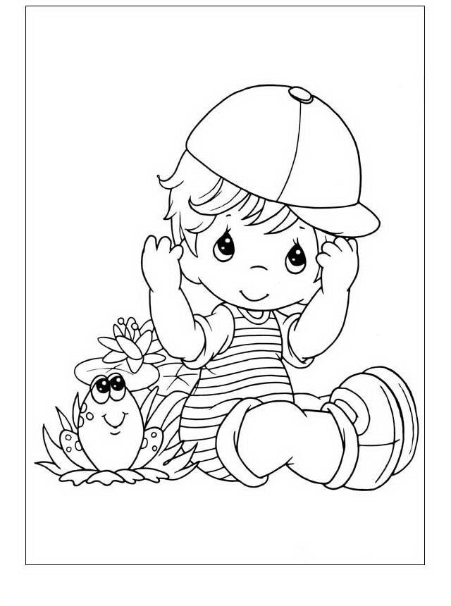 Dibujos para Colorear Precious Moments 7 | precius blanco y negro ...