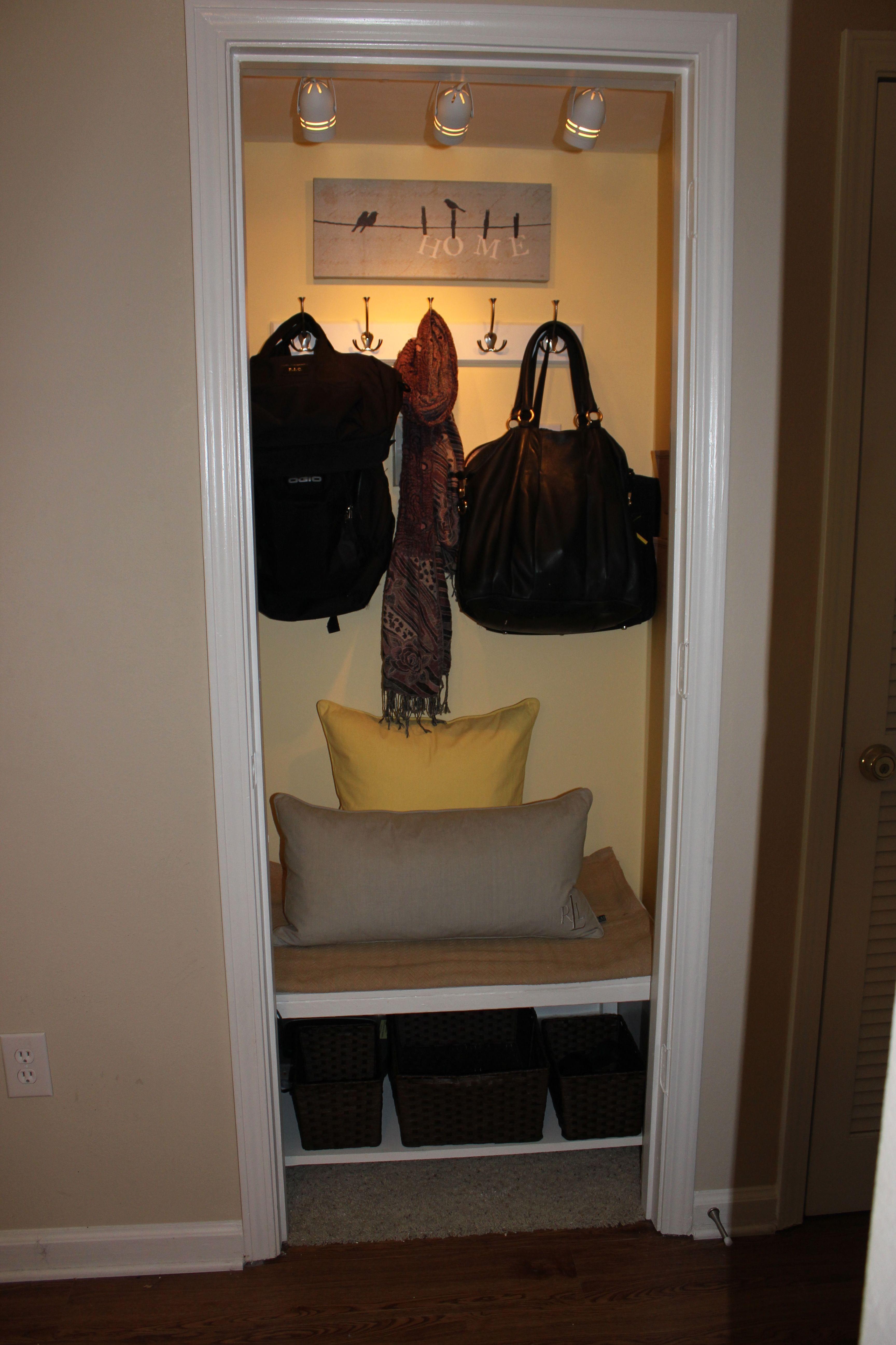 Closet Turned Mini Mudroom I Have The Perfect Closet To