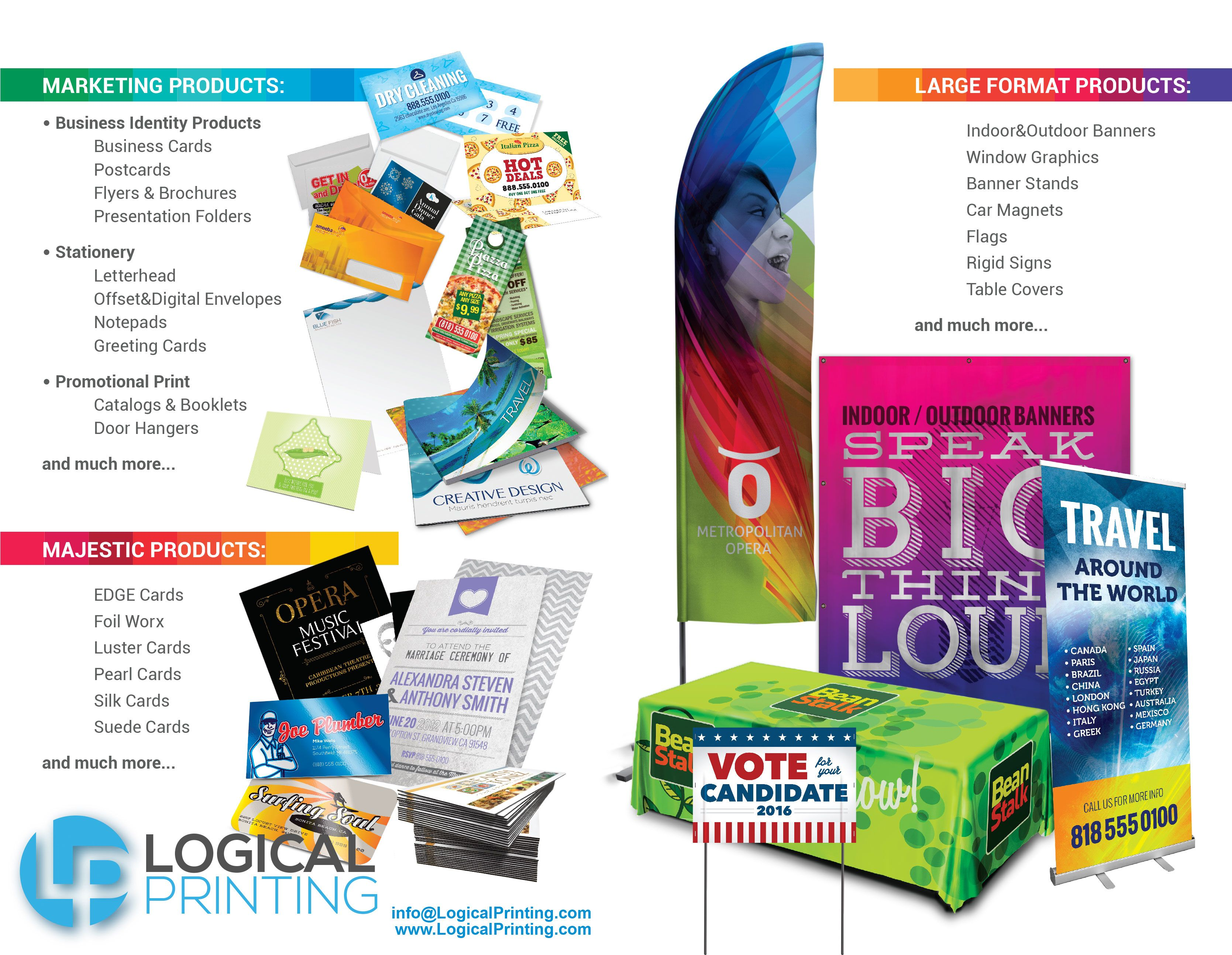 Visit Us Online Www Logicalprinting Com Great Deals On Business Cards Flyers Flags Magnets And More Outdoor Banners Presentation Folder Window Graphics