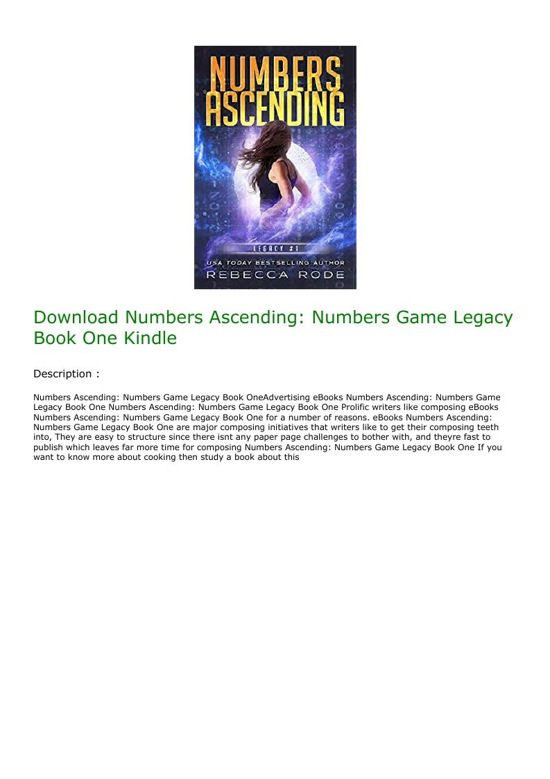 Download Numbers Ascending Numbers Game Legacy Book One Kindle Dystopian Romance Books Bestselling Author