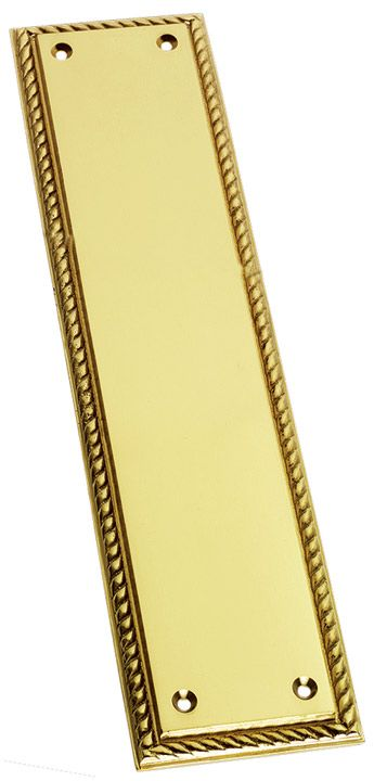 Prima Brass Rope Edge Style Georgian Door Push Plate Polished brass rope edge style Georgian door push plate. Overall measurements are 305x73mm. http://www.MightGet.com/january-2017-12/prima-brass-rope-edge-style-georgian-door-push-plate.asp