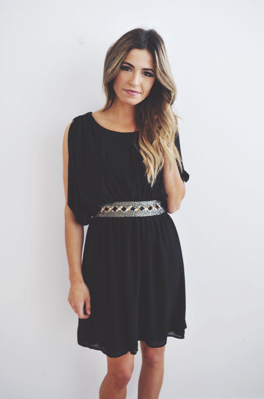 Dottie Couture Boutique - Black Draped Dress , $56.00 (http://www.dottiecouture.com/black-draped-dress/)