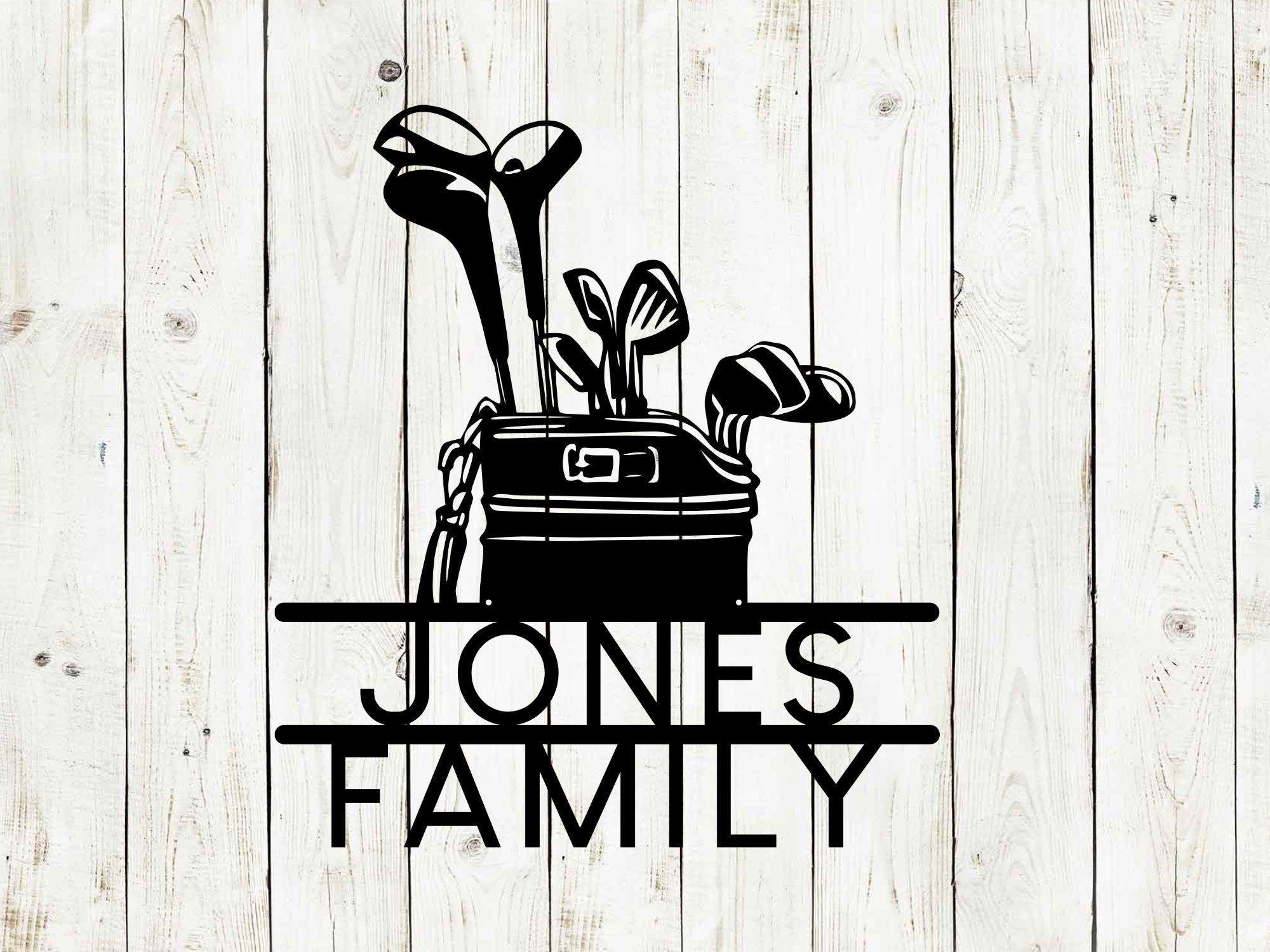 Golf Bag Custom Name Metal Sign, Golf Sign, Bar Sign, 19th Hole, Custom Golf Sign, Man Cave, Home Bar, Game Room Sign, Fathers Day,