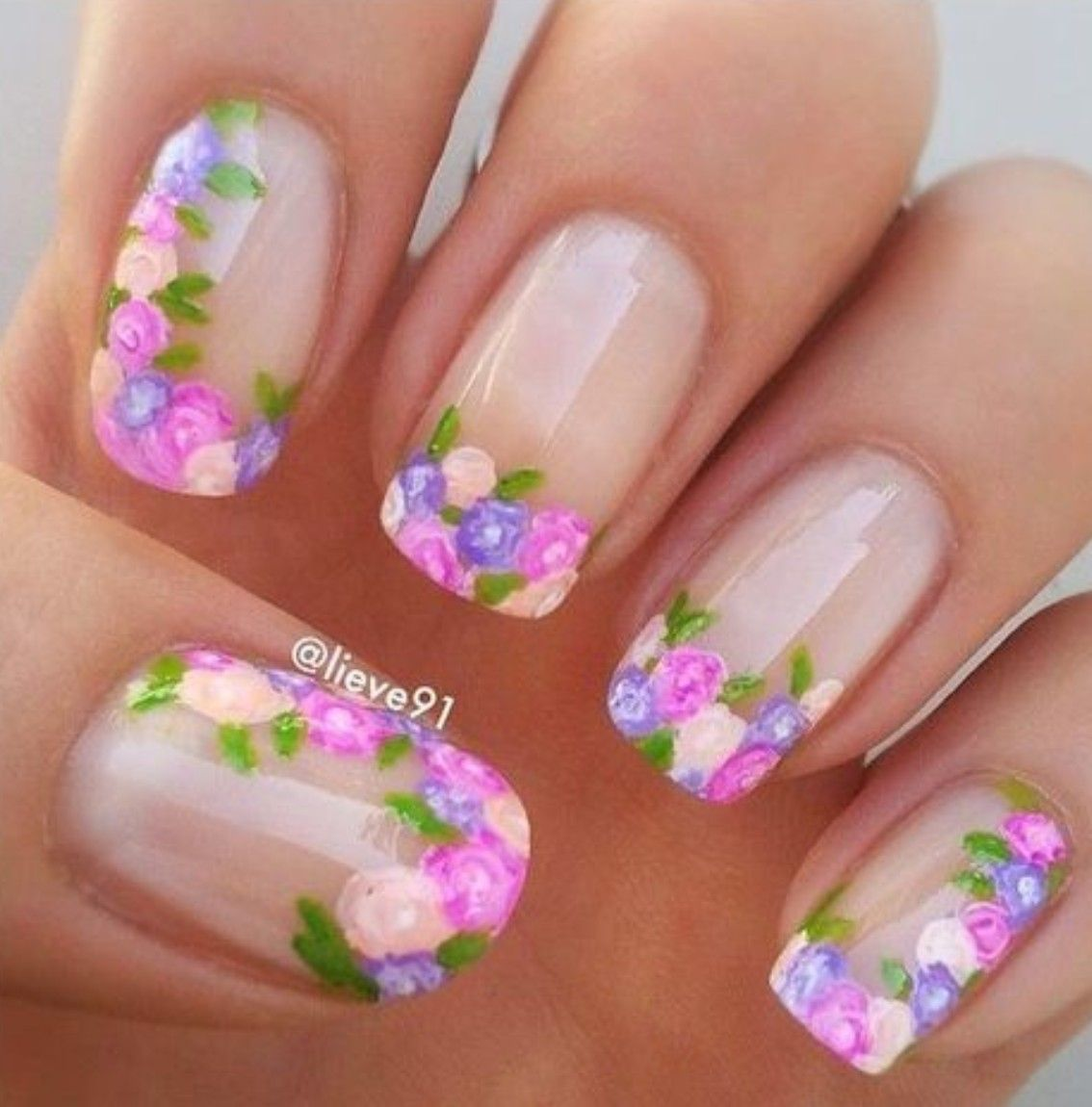 Pin by Marcia Perez on Nail art | Pinterest | Manicure, Spring nails ...