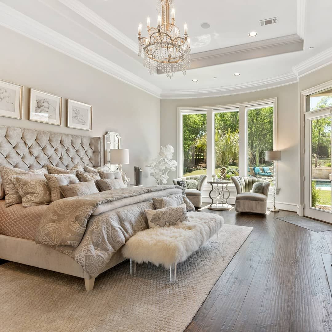 This Beautiful Texas Home Sits Next To The Arnold Palmer Signature Golf Course Tag Your Gol Luxury Bedroom Master Dream Master Bedroom Luxury Bedroom Design