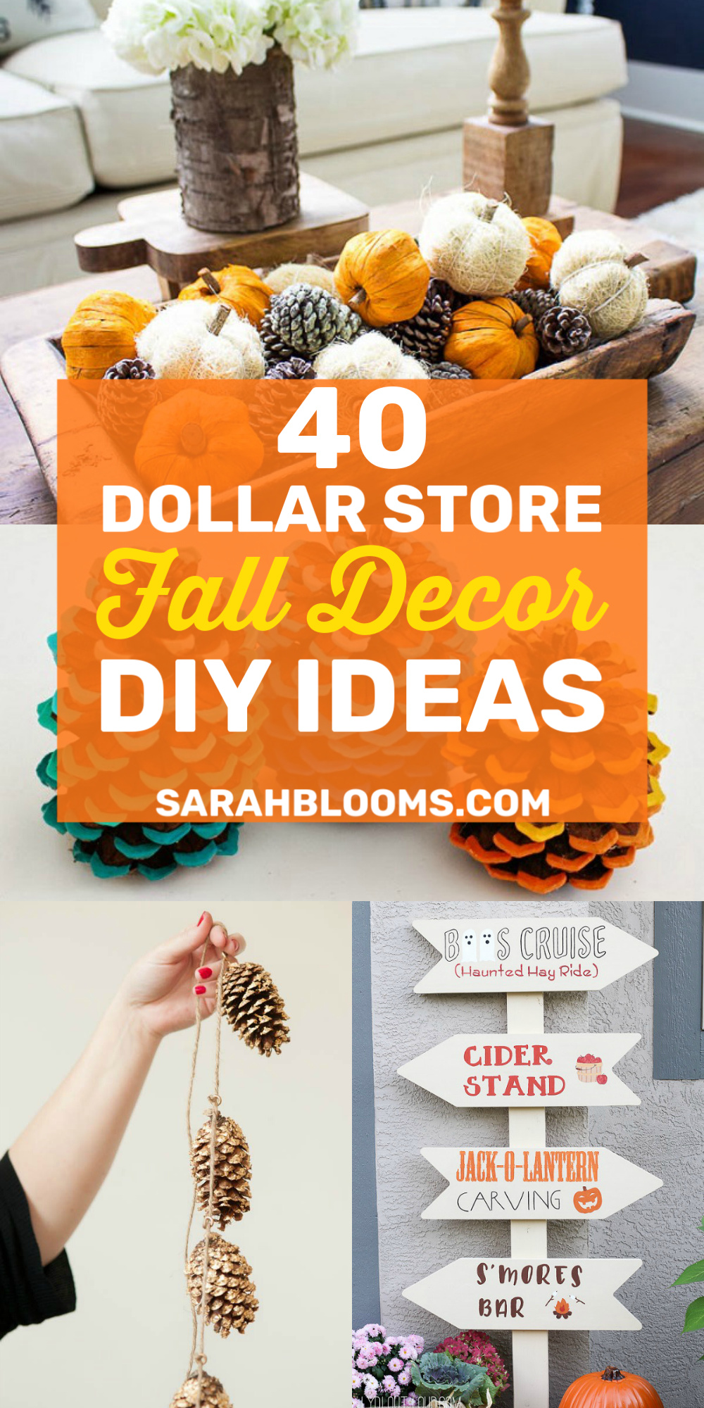 40 Must-See Dollar Store DIY Fall Décor Ideas - Sarah Blooms