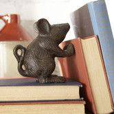 $21 5H x 4.5W x 3D Cast iron and wicked cute!! Found it at Wayfair - Rustic Mouse Decor