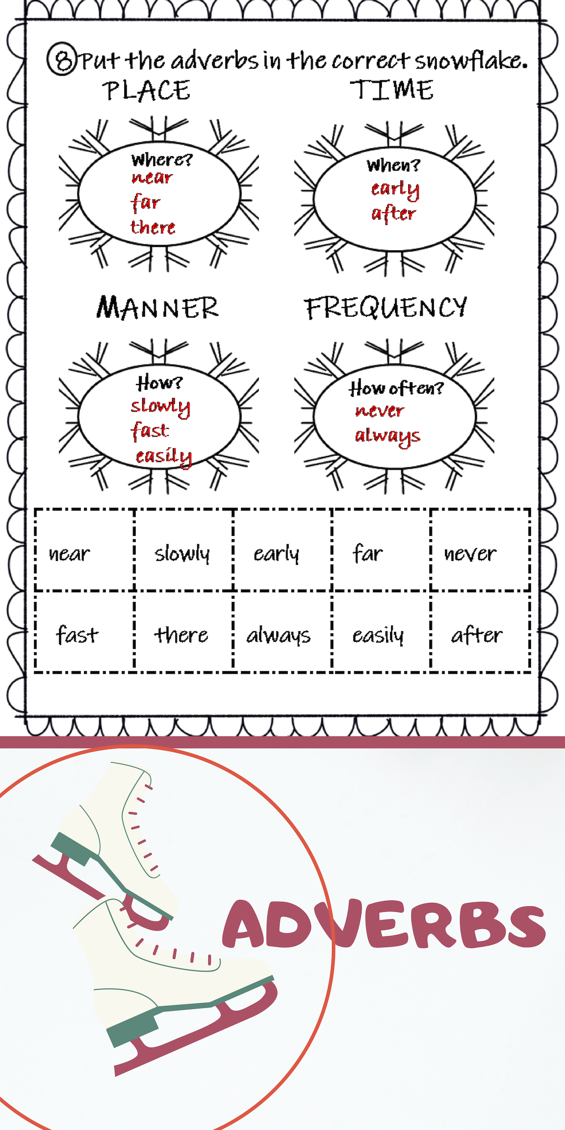 Winter Worksheets Adverbs Adjectives Past Tense [ 2304 x 1152 Pixel ]