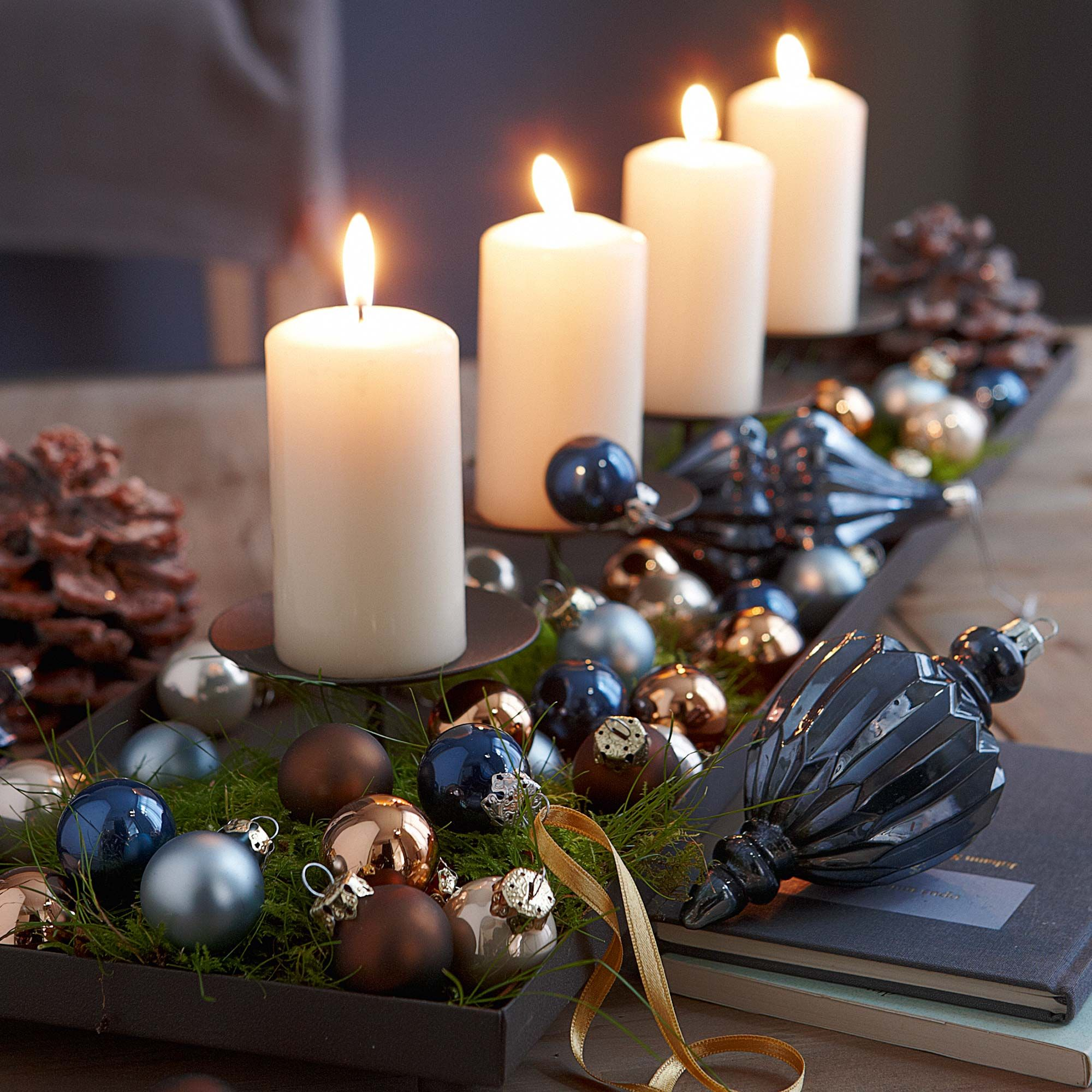 Bathroom Decorating Ideas With Candles christmas decorating ideas | christmas decor, trays and holidays