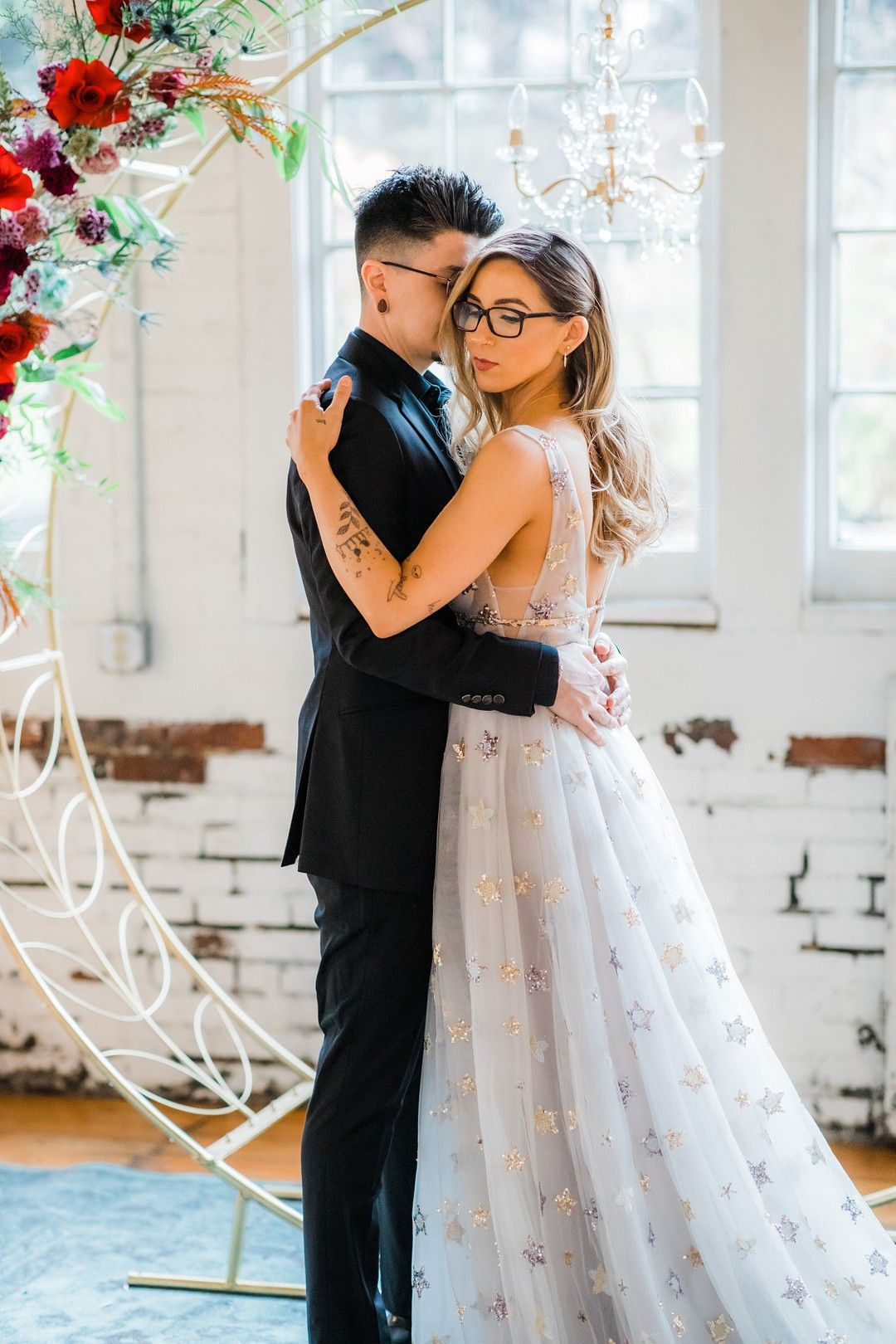ROMANTIC WHIMSICAL WEDDING INSPIRATION WITH A GALAXY STAR WEDDING DRESS | Bespoke-Bride: Wedding Blo