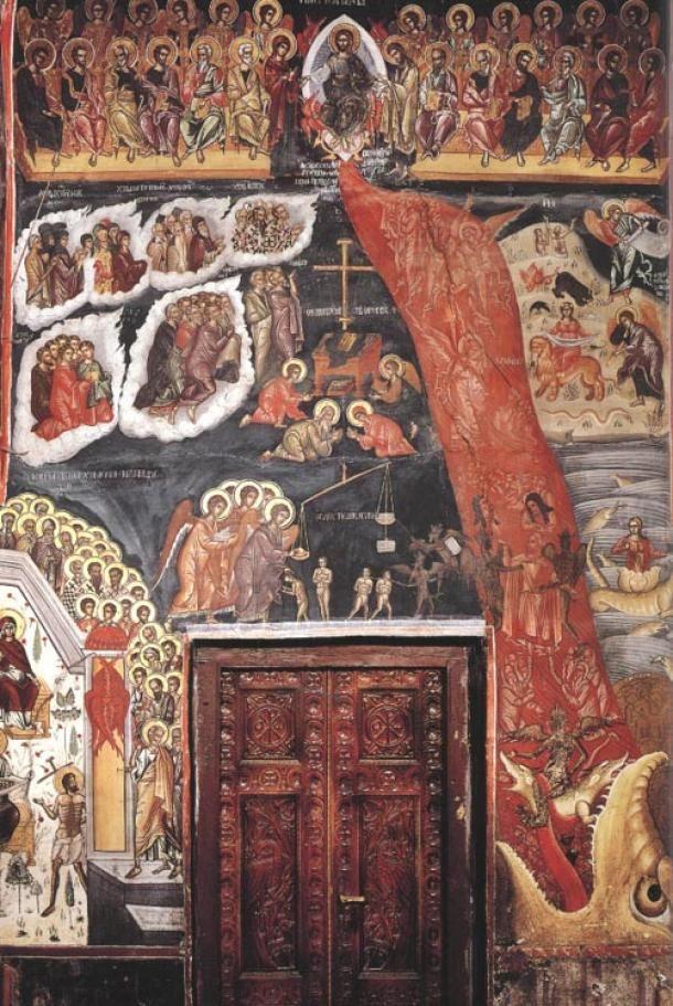 Inside Holy Trinity Monastery Meteora Greece
