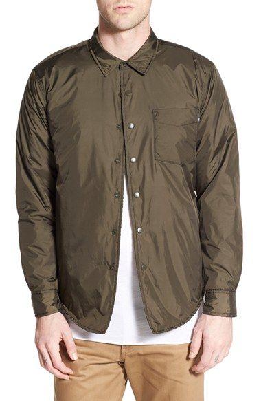 Obey 'Franklin' Nylon Shirt Jacket