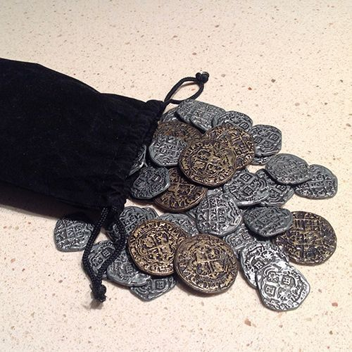 Doubloons for Puerto Rico Board Game Accessory Treasure Coins Pirate
