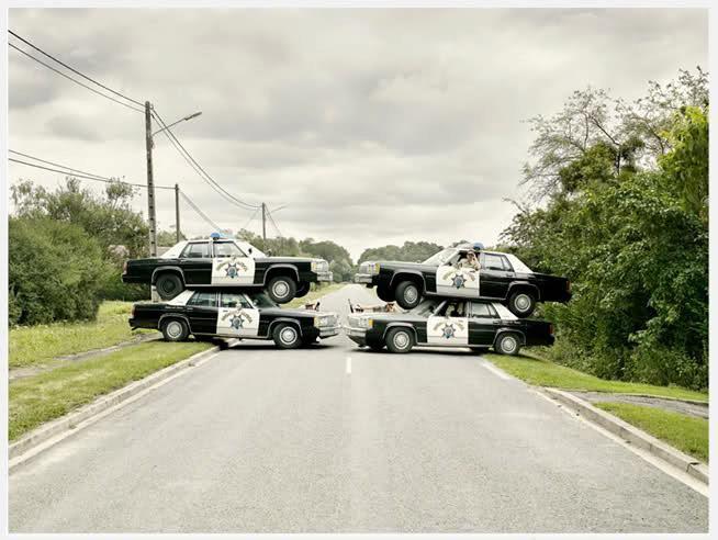 Road block | Police humor, Road blocks, Funny police pictures