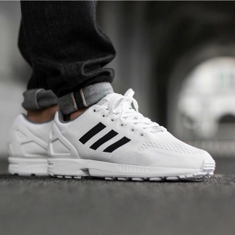 Adidas ZX Flux (white) | Shoes | Sneaker boots, Sneakers