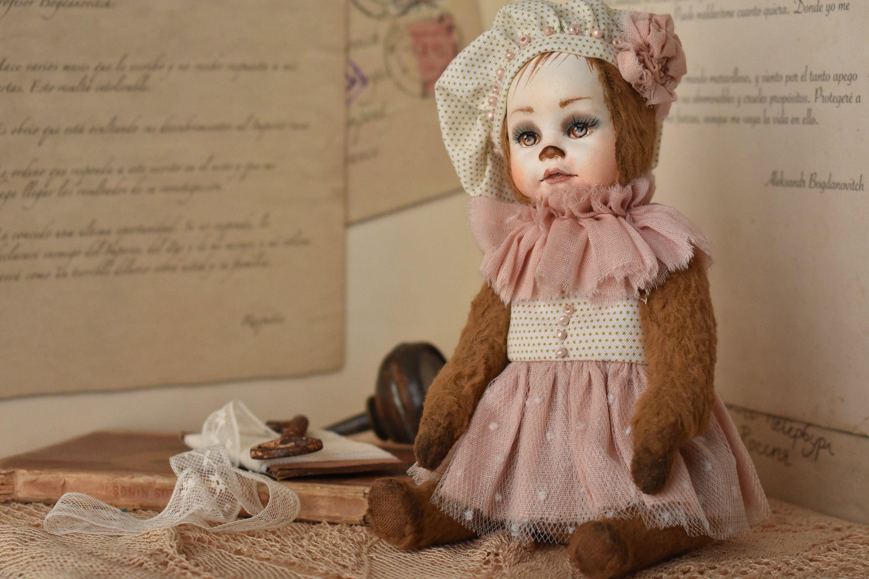 Teddy doll OOAK. Cute bear. Little cute bear with brown eyes ...