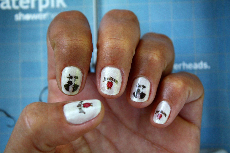 Jim Beam Jack Daniels Nail Art Nail Decals by NailSpin on Etsy ...