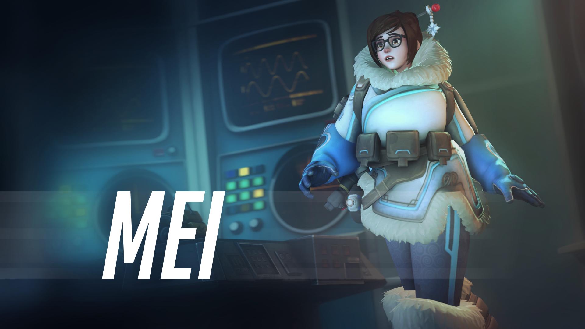 Video Game Overwatch  Mei-Ling Zhou Mei Blizzard Entertainment Wallpaper