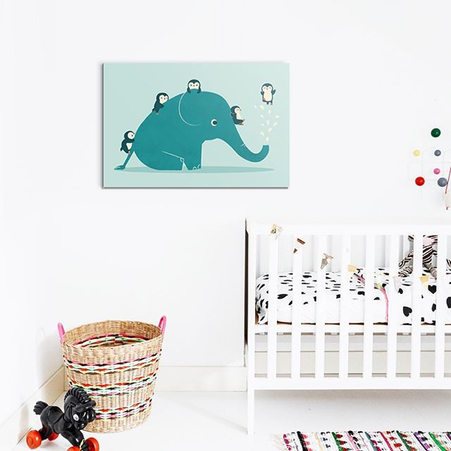 🎉Nouvelle Collection Enfant !🎈 . On est très fiers de vous présenter cette belle sélection  d'illustrations pour décorer les chambres de nos petits👶✨ 👀Venez vite jeter un coup d'oeil ! 💫 . Tableau Éléphant Kids à partir de 39 € sur labellegalerie.co - lien dans la bio💭 🐘🎨réalisé par notre nouvel artiste anglais🇬🇧Jay Fleck ! . #kidsroom #enfant #home