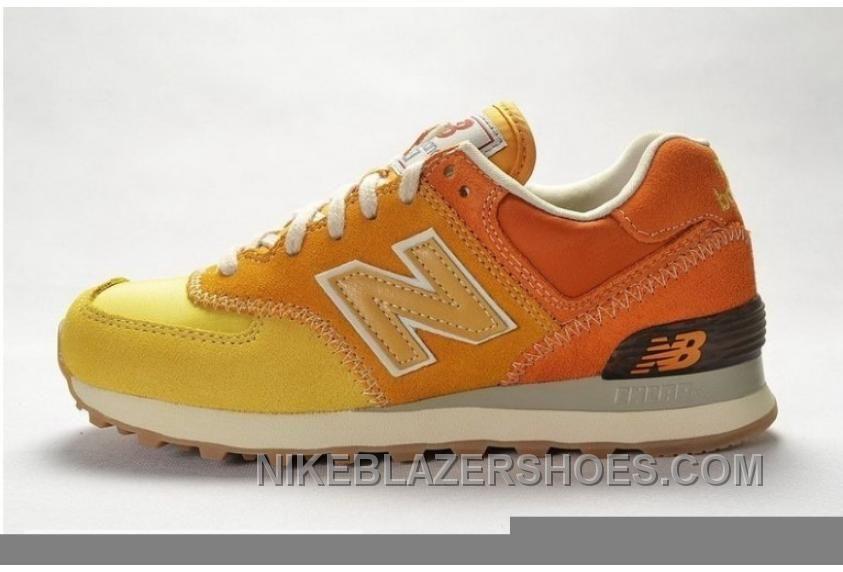 new balance 574 hombres naranja
