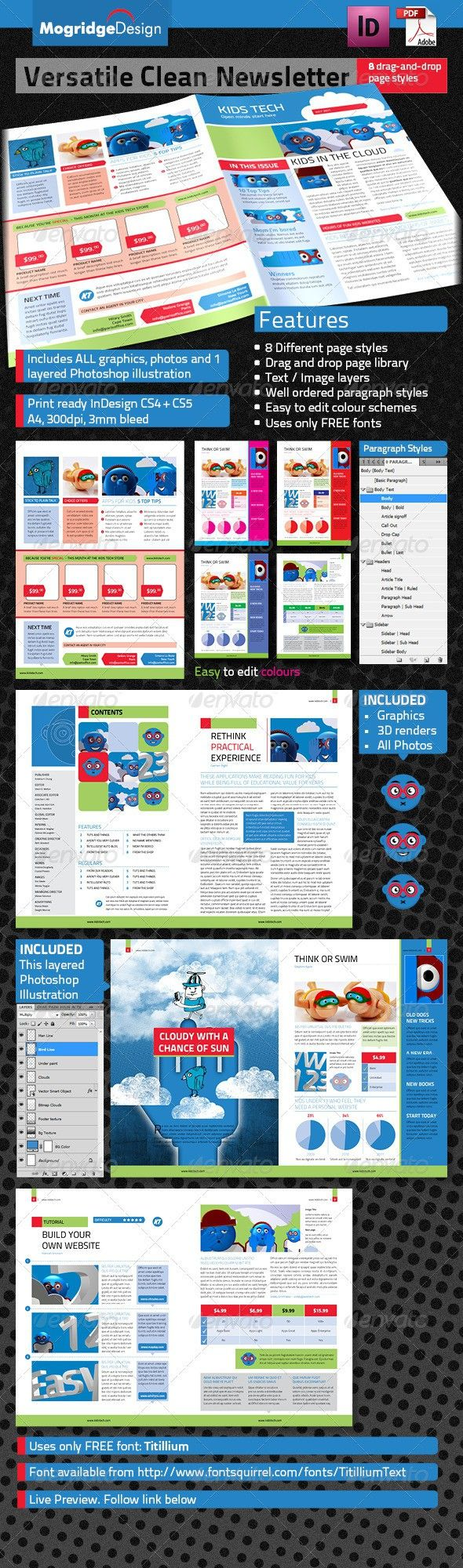 versatile tech newsletter e newsletter templates pinterest