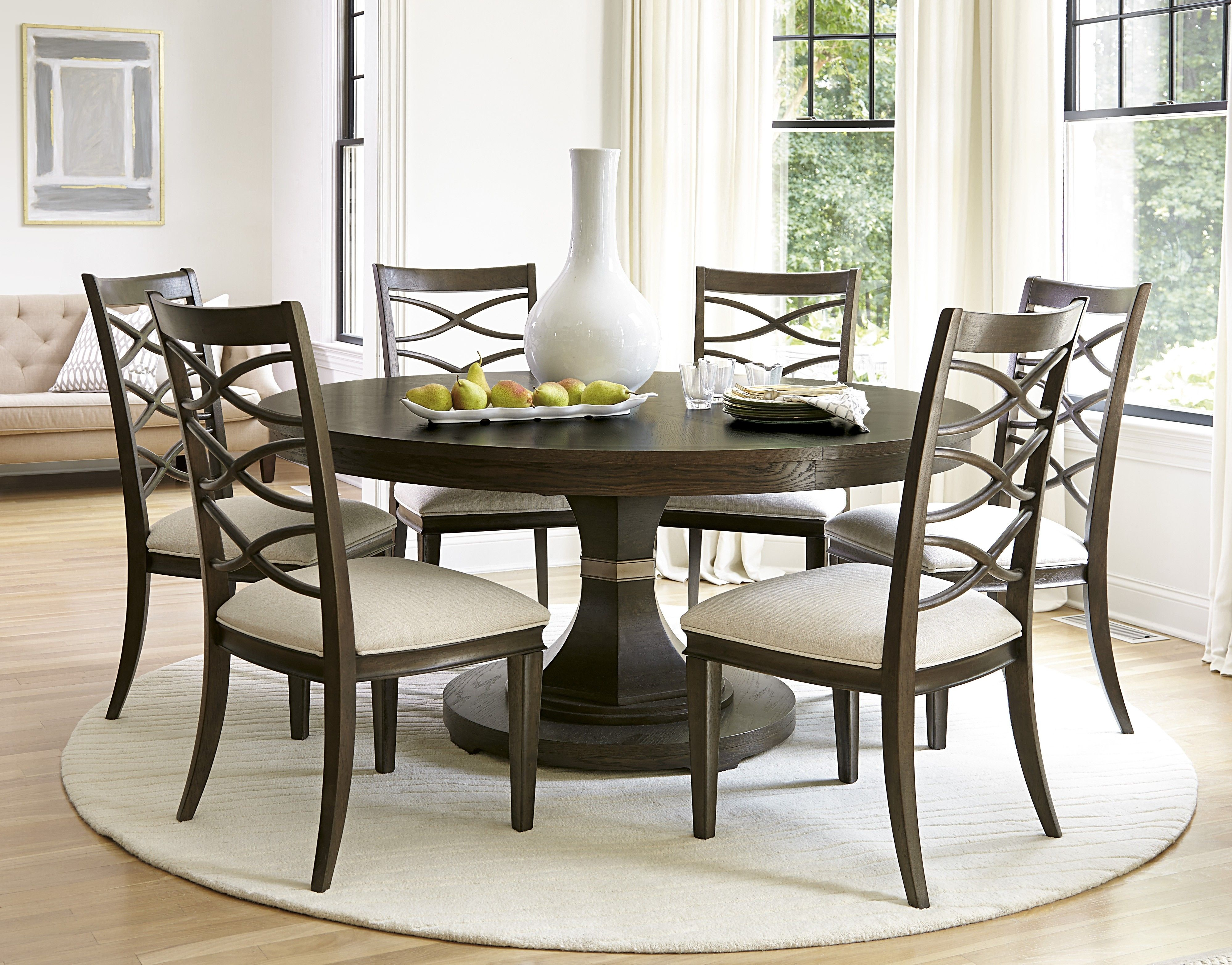 7 pc round dining table set pinterest