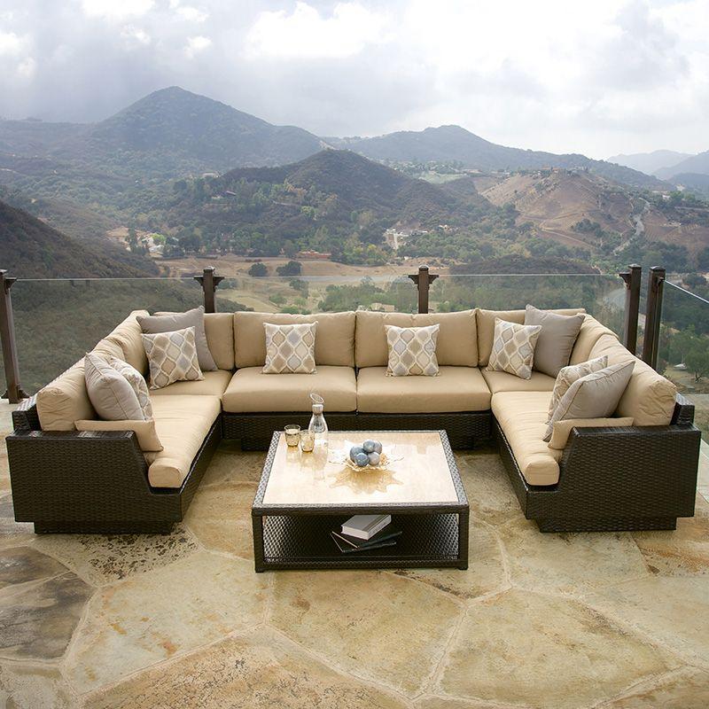 Costco Portofino Comfort Modular Seating With Stone Top Table Set