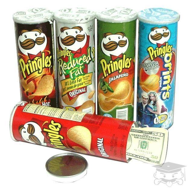 Secret Safe Original Pringles Hidden Stash Storage Diversion Can Home Security