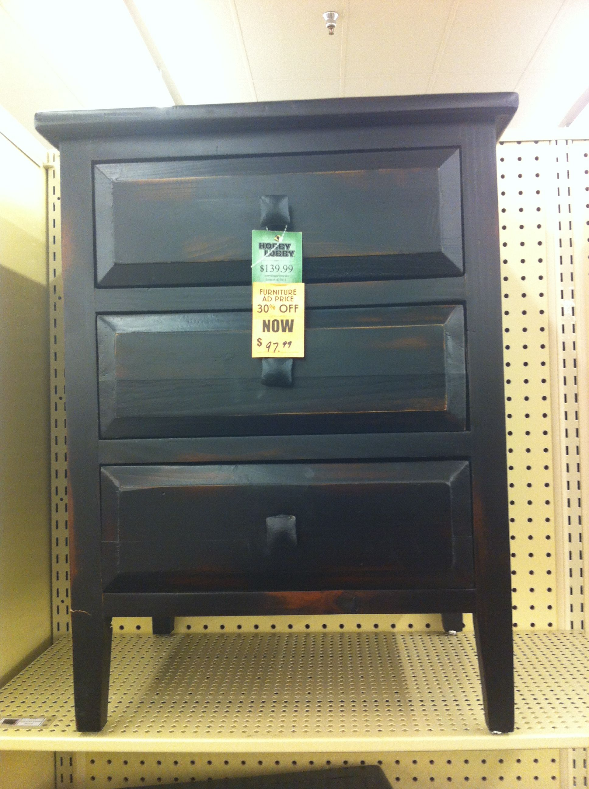 Hobby lobby night stand $98 Redecorating and Moving