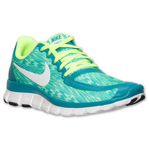 Women's Nike Free 5.0 V4 Running Shoes | FinishLine.com | Tribe Green/White