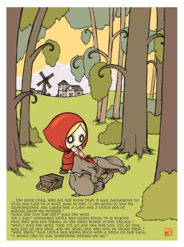 """The Evil Red Riding Hood"" by Sheharzad Arshad"