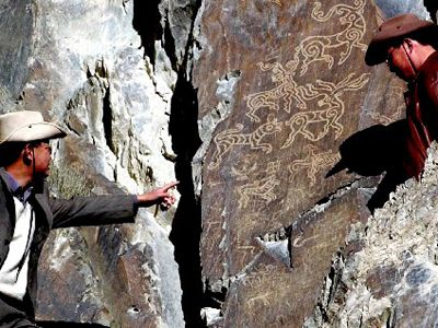 Cliff Carved City In | Rutog Cliff Carvings