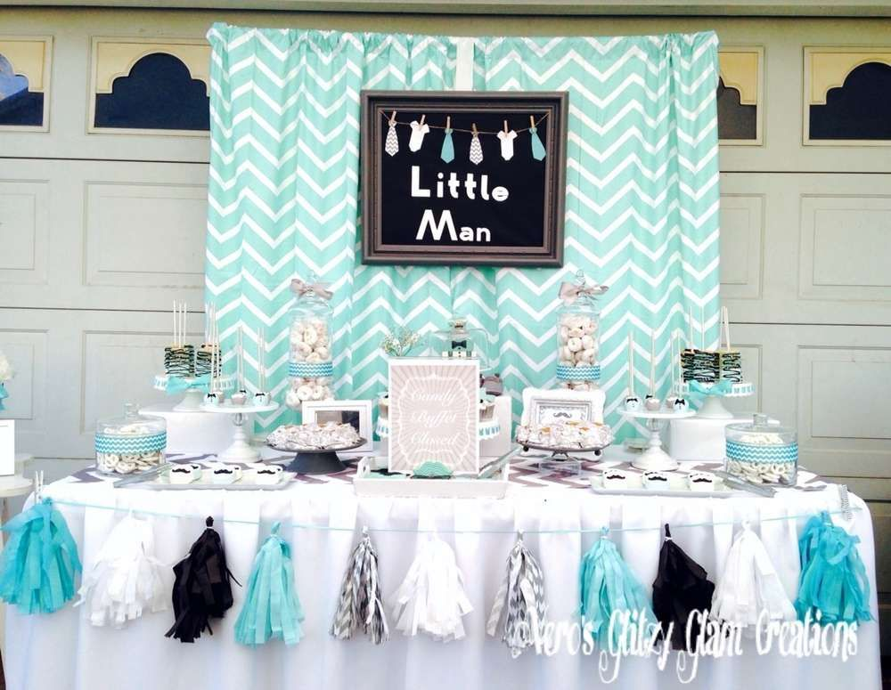 Baby Shower Ideas For Man ~ Little man baby shower party ideas parties